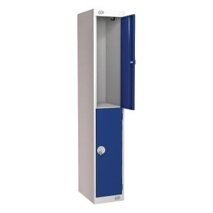 Locker 1800H X 300W X 450D, 2-Door, Blue