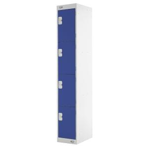 Locker 1800H X 300W X 450D, 4-Door, Blue