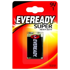 Eveready Super Heavy Duty Battery 9V