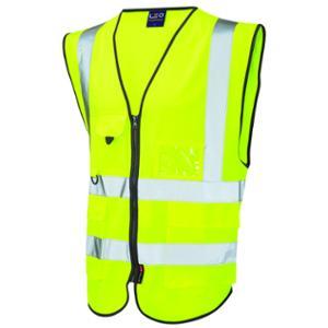 Superior High Visibility  Waistcoat Yellow Small