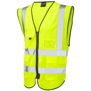 Superior High Visibility  Waistcoat Yellow XL