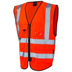 Superior High Visibility  Waistcoat Orange Medium
