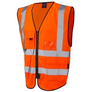 Superior High Visibility  Waistcoat Orange Large