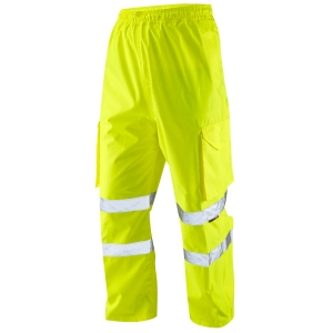 HIGH VISIBILITY OVERTROUSERS YELLOW  LARGE