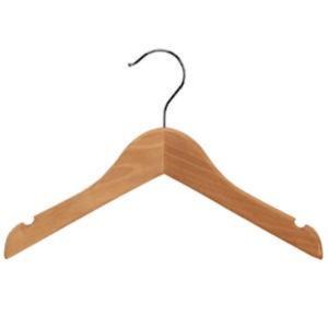 Childrens Wood Hanger W/O Peg 28Cm Bx50