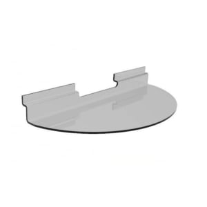 Semi-Circular Shelf 500X250 Clear Barnardos