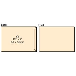 Lyreco Manilla Envelopes C4 Gum 80gsm - Pack Of 250