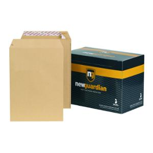 New Guardian Manilla C4 Peel And Seal Plain Envelopes 125gsm - Box of 250