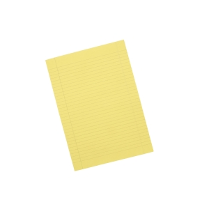Office Yellow A4 Memo Pads (Ruled) - Pack of 10 (10 X 80 Sheets)