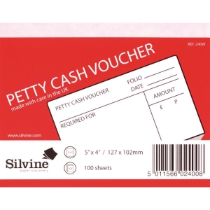 Petty Cash Voucher Pads 127x102mm - Pack of 10 Pads