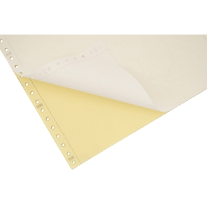 Lyreco Listing Paper 280x241mm 56/57gsm Plain Perforated 2-Part Tint 1000-Sheets