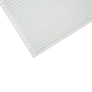 Lyreco Listing Paper 280x370mm 70gsm Ruled Non-Perf 1-Part 2000-Sheets
