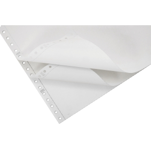 Lyreco Listing Paper 280x241mm 56/53/57gsm Plain Perforated 3-Part 700-Sheets