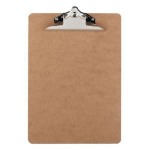 NATURAL HARDBOARD FOOLSCAP CLIPBOARD