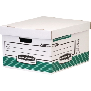 FELLOWES BANKERS BOX GREEN/WHITE STORAGE BOX H255 X W370 X D440MM - PACK OF 10