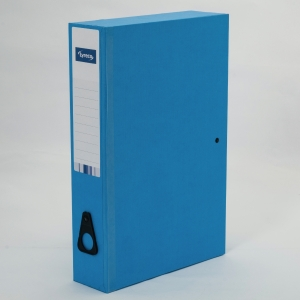 LYRECO BLUE FOOLSCAP BOX FILE