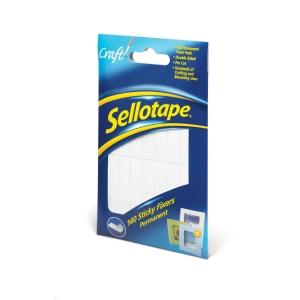 SELLOTAPE SELF-ADHESIVE STICKY FOAM FIXER PADS - BOX OF 140