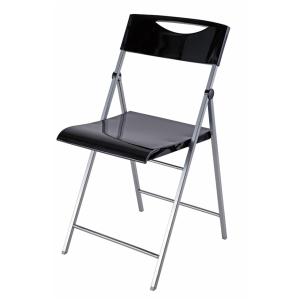 Alba Smile Black Folding Chair - Pack of 2