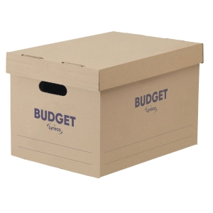 Lyreco Budget Storage Box 284x383x252mm White - Pack Of 10