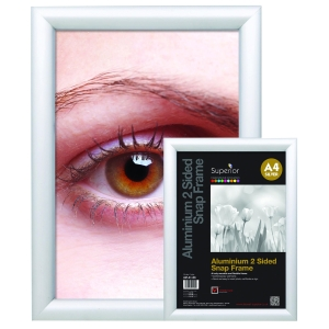 ALUMINIUM 4 SIDED SNAP FRAME SIZE A4 SILVER