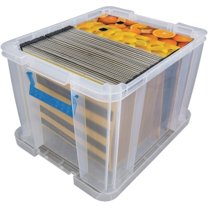 Whitefurze Allstore Clear 36 Litre PP Storage Box