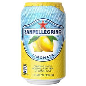 SAN PELLEGRINO LEMON SPARKLING FRUIT BEVERAGE 330ML - PACK OF 24