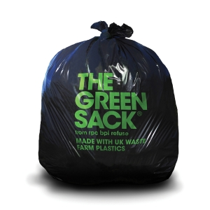 THE GREEN SACK EXTRA MEDIUM DUTY REFUSE SACK 737 X 965MM BLACK - BOX OF 200 CHSA