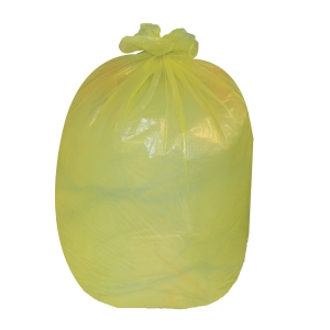 THE GREEN SACK CHSA 10KG MEDIUM DUTY REFUSE SACK 767MMX965MM YELLOW - BOX OF 200