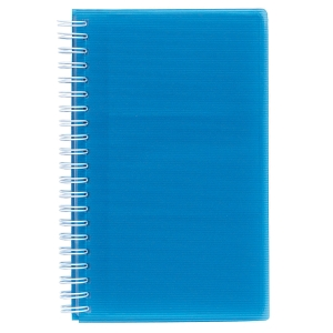 EXACLAIR LINICOLOR BUSINESS CARD HOLDER POLYPROPYLENE 96 CARD CAPACITY BLUE