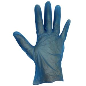 Unicare 1724 Vinyl PowderFree Disposable Gloves Blue Large (Box of 100)