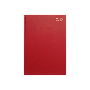 LYRECO A4 DESK DIARY BURGUNDY - WEEK TO VIEW