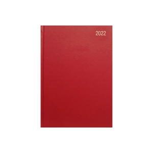 LYRECO A5 DESK DIARY BURGUNDY - WEEK TO VIEW