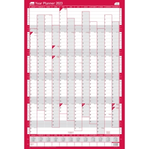 SASCO UNMOUNTED COMPACT PORTRAIT YEAR PLANNER - 405 X 610MM