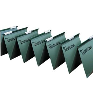REXEL CRYSTALFILE WHITE LINKED TOP SUSPENSION FILE TAB INSERTS - PACK OF 50