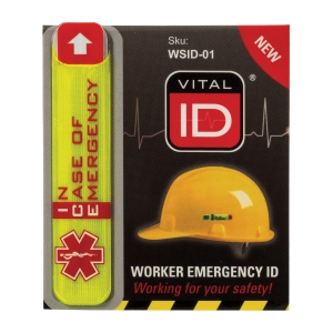 VITAL ID 343284 SAFETY HELMET STICKER SMALL