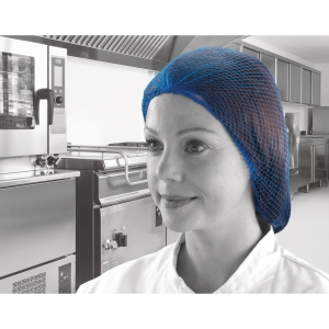 DISPOSABLE HAIRNETS BLUE (PACK OF 100)