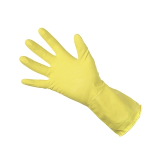 Rubber Glove Clean Grip 300793 Yellow Medium (Pair)