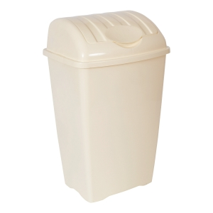 CREAM 50 LITRE LARGE LIFT TOP BIN