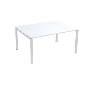 PAPERFLOW EASYDESK WHITE CONFERENCE TABLE 1500MM X 1140MM