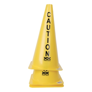 YELLOW 18 INCH STACKABLE CAUTION CONE