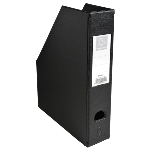 EXACOMPTA PVC MAGAZINE FILE, 70MM SPINE - BLACK