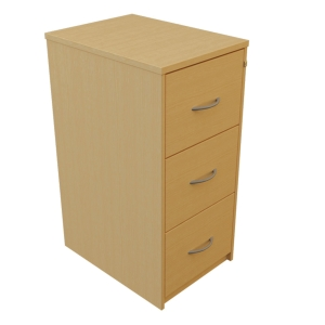 3 DRAWER LOCKABLE BEECH FILING CABINET