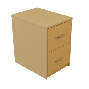 2 DRAWER LOCKABLE BEECH FILING CABINET