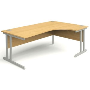 Right Hand Radial Beech Desk 1600mm