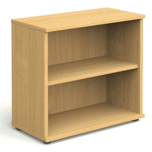 2 SHELF BEECH BOOKCASE 800MM