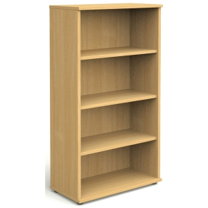 4 SHELF BEECH BOOKCASE 1600MM