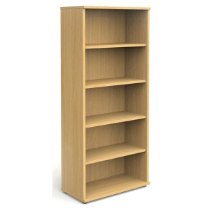 5 SHELF BEECH BOOKCASE 2000MM