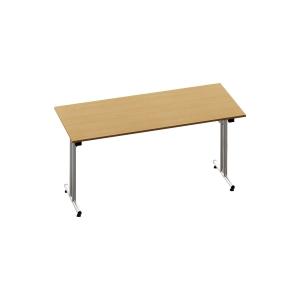 RECTANGULAR BEECH FOLDING TABLE 1600MM