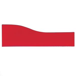 ALPHA RED DESKTOP SCREEN 1600MM