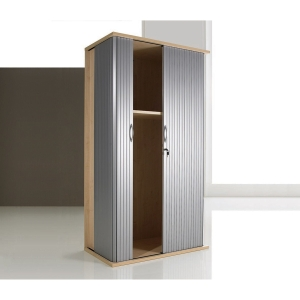 BEECH TAMBOUR CUPBOARD 1800MM